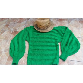 Knitted green sweater